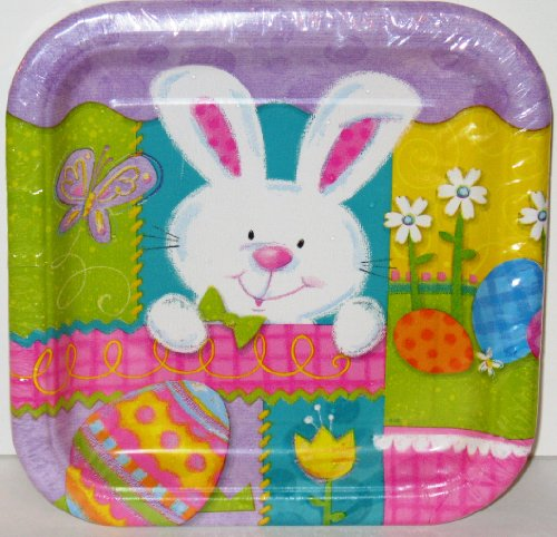 Easter Patchwork Bunny Small Plates - 1