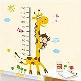 StickersKart Wall Stickers Kids Giraffe Height Chart Removable Large Vinyl (M...-831