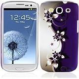 Cadorabo ! TPU Hard Cover f�r Samsung Galaxy S3 und S3 NEO (GT-i9300 / GT-i9301) im Muster Lila Blume