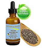 ORGANIC CHIA SEED OIL. 100% Pure / Natural / Undiluted / Cold Pressed Carrier Oil For Skin, Hair, Lip And Nail Care.