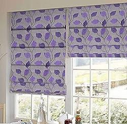 PRESTO BAZAAR 1 Piece Polyester Floral Blind - Purple