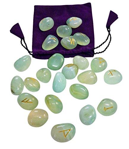 magic-items-runes-aigue-marine-futhark-esoterisme-pierres-precieuses-vrai-dire-oracle-runes-set