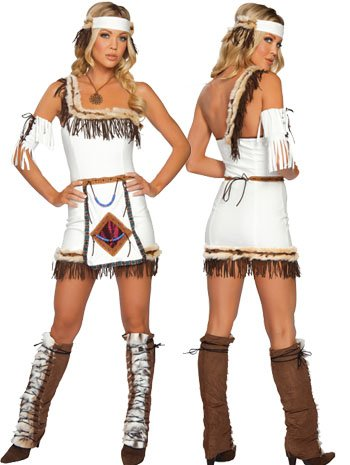 Indian Chief Native American Girl Costume - MEDIUM/LARGE