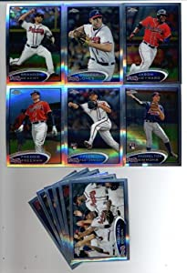 2012 Topps Chrome Atlanta Braves Team Set -12 Cards including Jason Heyward, Brandon... by Topps
