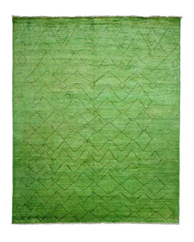 Darya Rugs Moroccan Oriental Rug, Green, 7' 10 x 9' 7