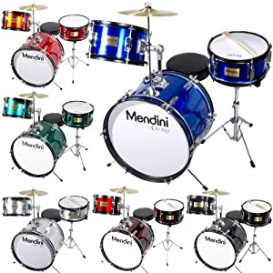 Mendini 3-Piece 16-Inch Junior Drum Set - MJDS-3 by Cecilio Musical Instruments