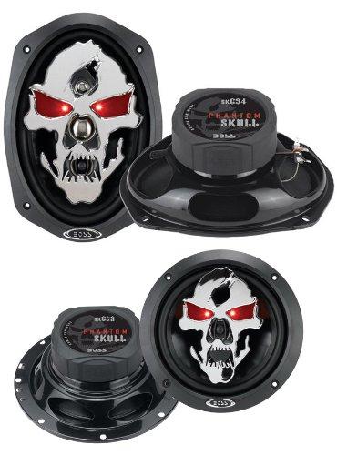 "2) Boss Sk694 6X9"" 700W 4 Way Car Speakers + Boss Sk652 6.5"" 300W Car Speakers"