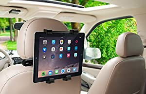 "Okra 360° Degree Adjustable Rotating Headrest Car Seat Mount Holder For iPad, Samsung Galaxy,Motorola Xoom, And all Tablets Up To -10.1"" from Okra"