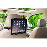 Okra 360° Degree Adjustable Rotating Headrest Car Seat Mount Holder For iPad, Samsung Galaxy,Motorola Xoom, And all Tablets Up To -10.1""
