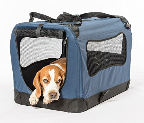 2PET Folding Soft Dog Crate for indoor, travel, training for pets ...
