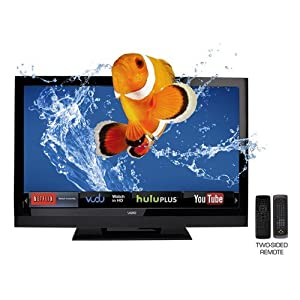 "VIZIO E3DB420VX 42"" 3D HDTV 1080P 120Hz WiFi APPS BUNDLE W/3D BluRay +4-3D GLASS and cleaner"