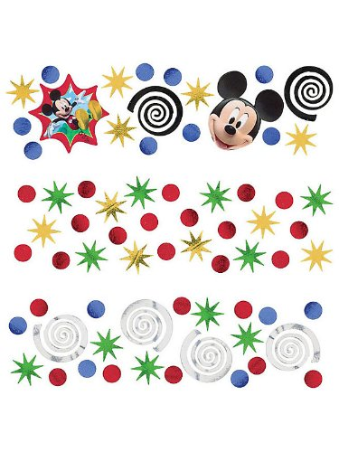 Amscan Disney Mickey Mouse Party Confetti Value Pack, Multi, 12 oz