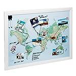 Magnetische Karten zum Zeichnen, Festpinnen und zum Planen Ihrer Reisen (Weltstadt)