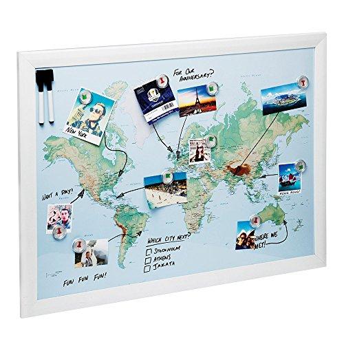 Magnetic Maps, per disegnare, segnare e pianificare i tuoi viaggi (Città del mondo)