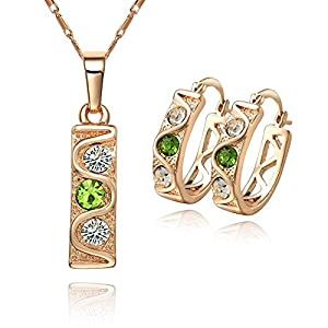 GOMO jewelry Austria 18K color crystal European style Bride necklace&earring