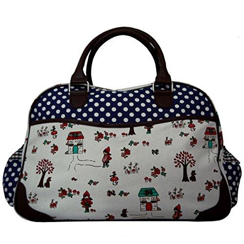 Anberry sac à langer petit chaperon rouge pois bleu