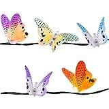 Fiber Optic Light String w 10 Butterflies