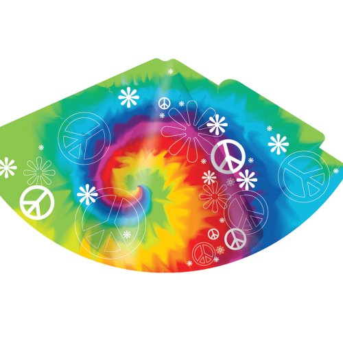 Creative Converting Tie Dye Fun 8 Count Child Party Hats - 1