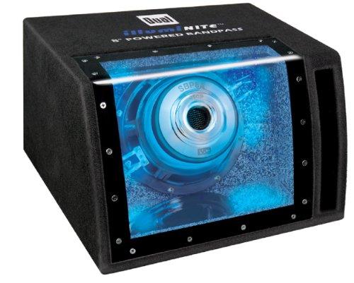Dual Sbp8A 160-Watts Single 8-Inch Amplified Bandpass Black