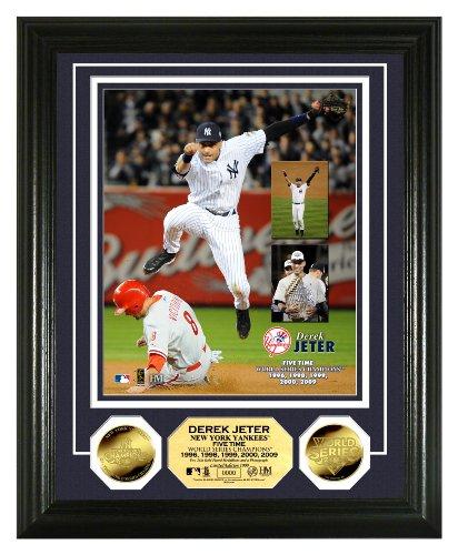 "MLB Derek Jeter ""5x World Series Champ"" 24 KT Gold Coin Photomint"