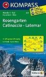 Rosengarten /Catinaccio - Latemar: Wanderkarte mit Radrouten. GPS-genau. 1:25000 (KOMPASS-Wanderkarten)