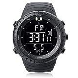 PALADA Men's Outdoor Waterproof Sport Arc-shaped Glass LED Digital Watch