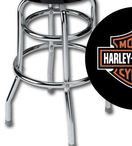Harley Davidson Bar Stool with Bar & Shield Logo HDL