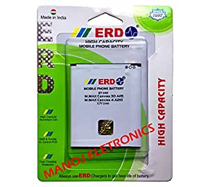 Micromax Canvas A116 , A117 , A115 , A114 , A210 , A92 , 4 Battery By ERD { SUPER POWER BATTERY }