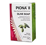 Piona II Deep Cleansing & Moisturizing Olive Oil Soap 6.35 Oz - Clears Complexion and Leaves Skin Glowing - By Cherrybargains