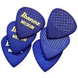 Ibanez BPA16MR-BL Grip Wizard Serie - Plektrum Gitarre Gummigrip Medium (6 Stück) blau