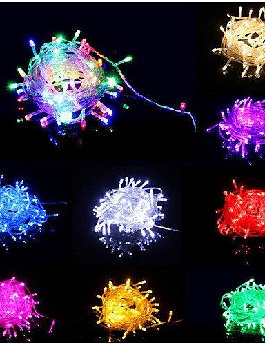 Holloween e decorazioni di Natale luce 2pz/Lotto 10metro con 80PC natale luce di illuminazione/4.8WLed illuminazione vacanze/IP44 Filo di rame con il tappo , blu-220-240v