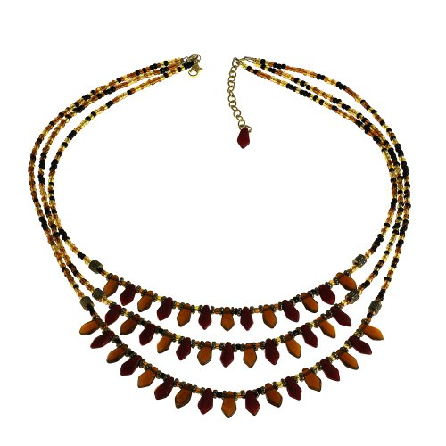 Antique Inspired Cascade Beaded Necklace Fashion Jewelry Costume Indian