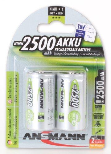 piles rechargeables ansmann lr14 batterie rechargeable nimh 2 x c 2500mah. Black Bedroom Furniture Sets. Home Design Ideas