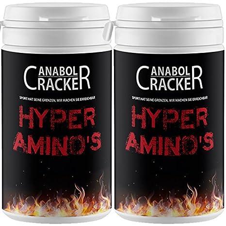 2X Hyper Aminosäuren, 60 Kapseln, hochdosierte Bcaa L-Arginin HCL, Glutamin Muskelaufbau