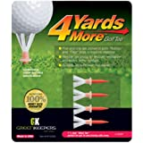 """4 Yards More Reduced Friction Golf Tee; 1-3/4"""", 2-3/4"""", 3-1/4"""", 4"""", Variety Pack And Hybrid"""