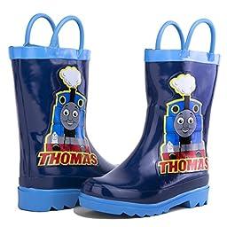 Thomas the Tank Engine Boy\'s Blue Rain Boots (Toddler/Little Kid) (10 M US Toddler)