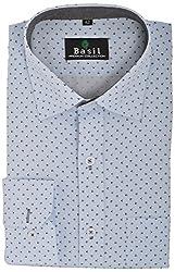 Basil Men's Formal Shirt (BA360PRC23FSF, Sky Blue, 42)