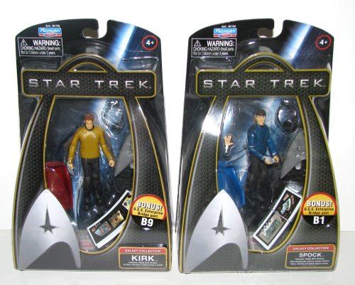 Buy Low Price Playmates Star Trek – 2009 Movie Figures Sets – KIRK & SPOCK with BONUS Enterprise Bridge Accessory Pieces – 2009 Release (B0027R9DUC)