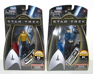 Star Trek - 2009 Movie Figures Sets - KIRK & SPOCK with BONUS Enterprise Bridge Accessory Pieces - 2009 Release