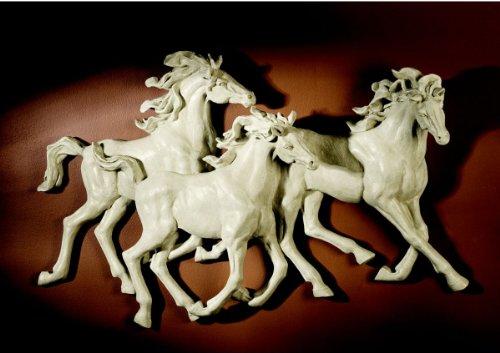 Spanish wild stallion horse wall 3 d sculpture statue decor nespressous12 - Statue decorative d interieur ...