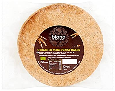 Biona Organic Pizza Bases Mini 4-pizza Bases 300 g (Pack of 5, Total 20 Pizza Bases)