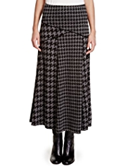 Per Una Houndstooth Long Skirt
