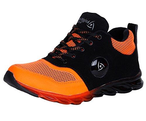 Knight Ace Kraasa 007 Sports Shoes Black Orange UK 8