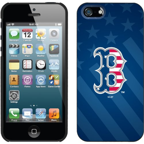 Special Sale Boston Red Sox - USA Blue design on a Black iPhone 5 Thinshield Snap-On Case by Coveroo