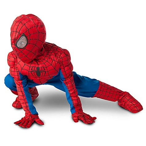 Disney the Amazing Spiderman Halloween Light-up Padded Muscle Costume