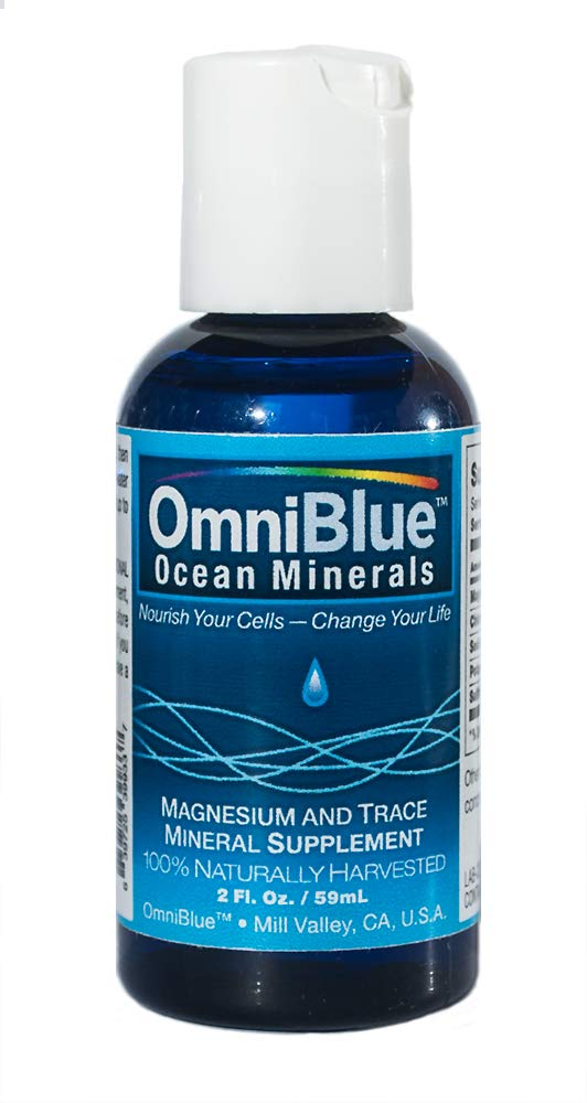 OmniBlue Ocean Minerals | 2 oz. | 100% Certified, Pure and Naturally Harvested Ocean Electrolytes as Naturally Occurring Macro & Trace Minerals | No Additives or Alterations (Tamaño: 2 oz.)