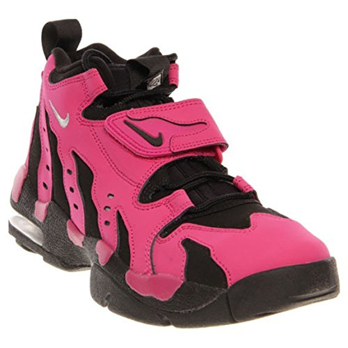 Nike Air DT Max 96 Men's High Top Sneakers (8.5, VIVID PINK/METALLIC SILVER-BLK)