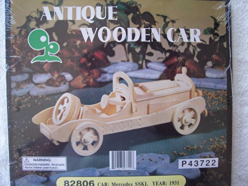 Antique Wooden Car 82806 - 1931 Mercedes SSKL