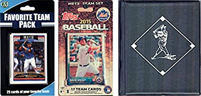 MLB New York Mets Men's Licensed 2015 Topps Team Set and Favorite Player Trading Cards Plus Storage Album