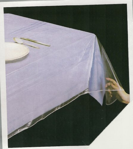 DELUXE COLLECTION Clear Heavy Duty Tablecloth Protector, Oval 54